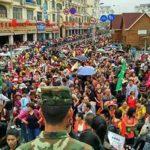 Khách Trung Quốc tăng đột biến dịp cuối tuần tại Quảng Ninh