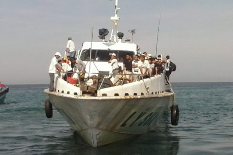 Quảng Ngãi: Tàu siêu tốc chết máy giữa biển, 78 khách hoảng loạn